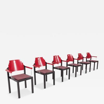 Thonet Memphis Dining Chairs by Gebr der Thonet Vienna 1980s