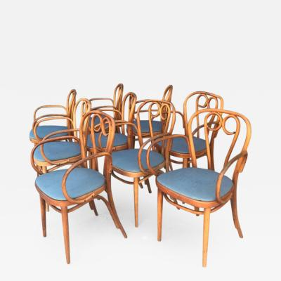Thonet Nine 9 Thonet Bentwood Dining Chairs