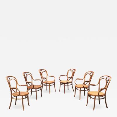 Thonet Set of six Thonet chairs 1900s