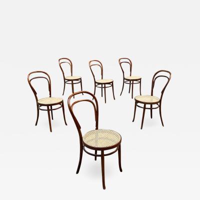 Thonet Set of six Thonet chairs model 214 1930s
