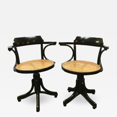 Thonet Swivel chairs in Thonet style 1900s