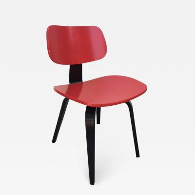 Thonet Thonet Bentwood Red and Black Lacquered Modernist Desk Chair