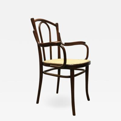 Thonet Wood and Vienna straw chair by Thonet 1900s