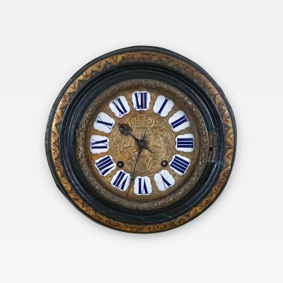 Thuret 18th Century French Wall Clock by Thuret