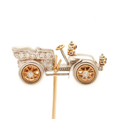 Tiffany Co Antique Diamond Car Stickpin
