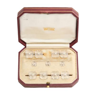 Tiffany Co Crystal Pearl Dress Set by Tiffany Co