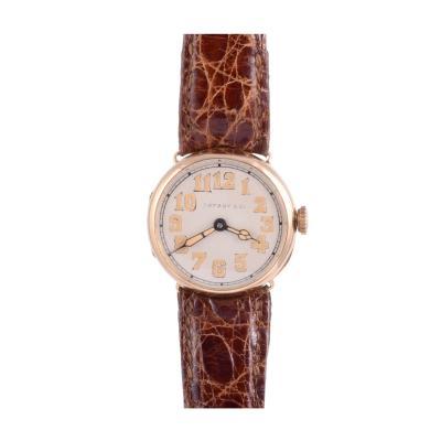 Tiffany Co Longines for Tiffany Co Art Deco 18K Wrist Watch