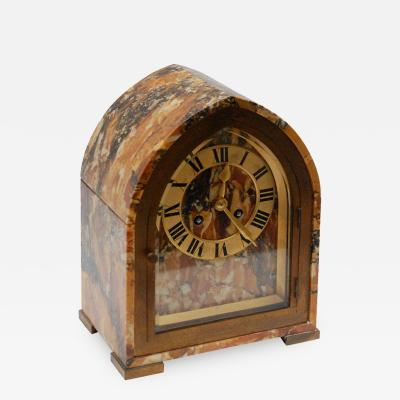 Tiffany Co Marble Brass Desk Clock by Tiffany Co