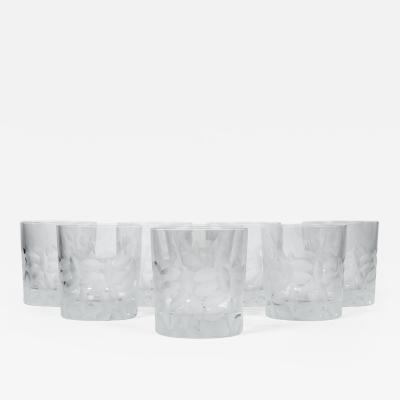 Tiffany Co Mid Century Low Ball Crystal Glasses