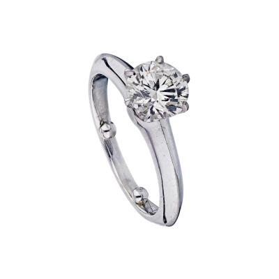 Tiffany Co TIFFANY CO 1 09 CARAT ROUND DIAMOND D SI1 GIA RING