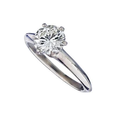 Tiffany Co TIFFANY CO 1 11 CARAT ROUND DIAMOND H VS1 GIA RING