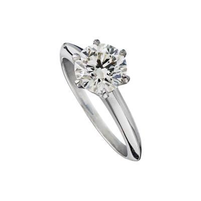 Tiffany Co TIFFANY CO 1 46 CARAT ROUND DIAMOND F VS1 GIA RING