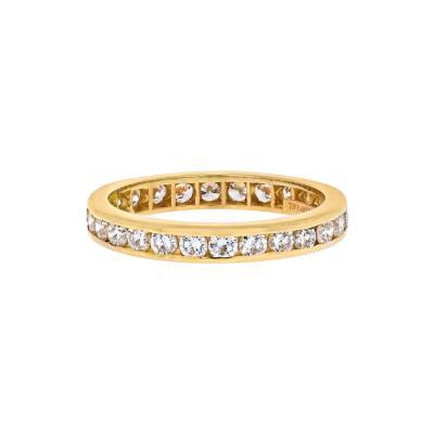 Tiffany Co TIFFANY CO 18K YELLOW GOLD 3MM DIAMOND 0 59CTS ETERNITY BAND