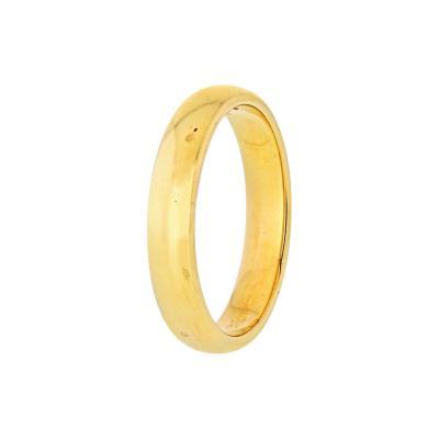 Tiffany Co TIFFANY CO 18K YELLOW GOLD CLASSIC MENS WEDDING BAND