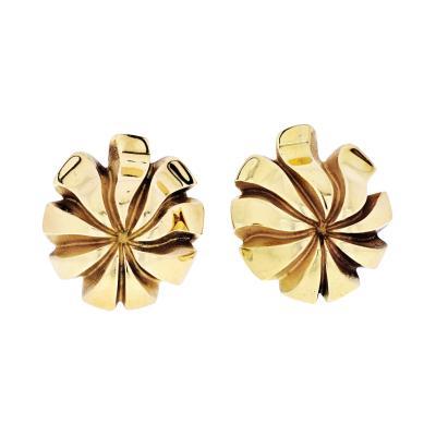 Tiffany Co TIFFANY CO 18K YELLOW GOLD VINTAGE EARRINGS