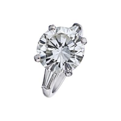 Tiffany Co TIFFANY CO 7 CARAT ROUND DIAMOND I VS2 GIA RING