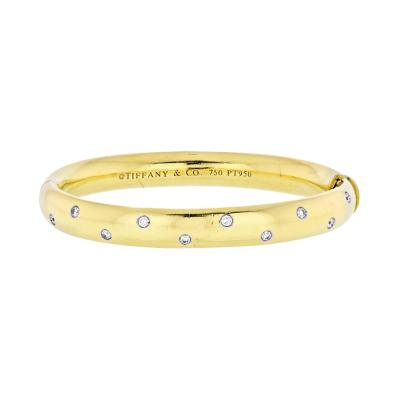 Tiffany Co TIFFANY CO ETOILE 18K YELLOW GOLD 0 40 CARAT DIAMOND BANGLE BRACELET