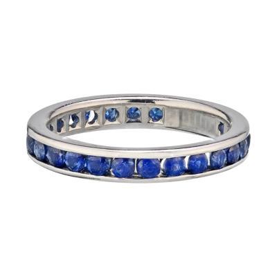 Tiffany Co TIFFANY CO PLATINUM 1 00 CARATS BLUE SAPPHIRE ETERNITY BAND