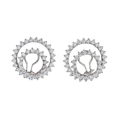 Tiffany Co TIFFANY CO PLATINUM DIAMOND SWIRLS EARRINGS