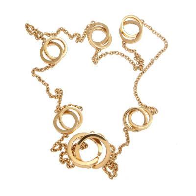 Tiffany Co Tiffany Co 1837 Gold Interlocking Rings Necklace