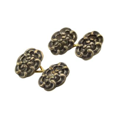 Tiffany Co Tiffany Co 18K Gold and Sterling Silver Cufflinks