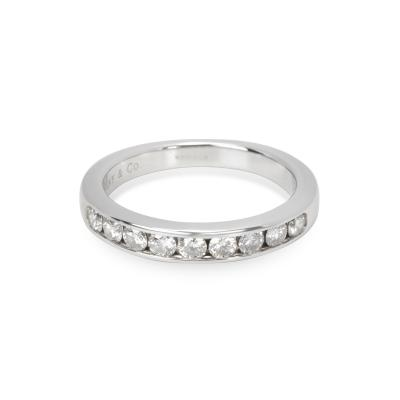 Tiffany Co Tiffany Co 9 Stone Diamond Wedding Band in Platinum 0 45 CTW