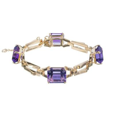 Tiffany Co Tiffany Co Amethyst Yellow Gold Link Bracelet
