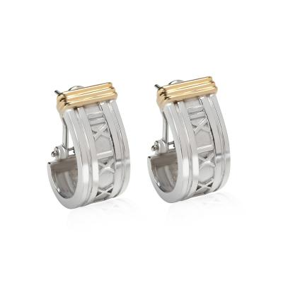 Tiffany Co Tiffany Co Atlas Collection Earrings in 18K Yellow Gold Sterling Silver