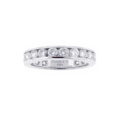 Tiffany Co Tiffany Co Channel Set Diamond Platinum Band