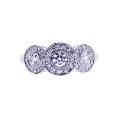 Tiffany Co Tiffany Co Circlet Diamond Platinum Ring
