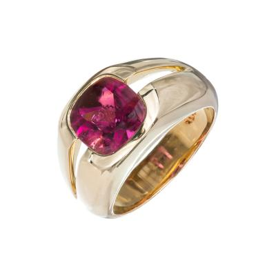 Tiffany Co Tiffany Co Cushion Pink Tourmaline Gold Ring