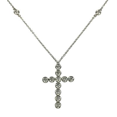 Tiffany Co Tiffany Co Diamond Cross Necklace