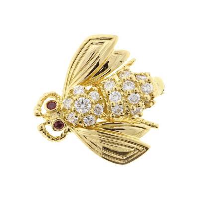Tiffany Co Tiffany Co Diamond Gold Bee Brooch