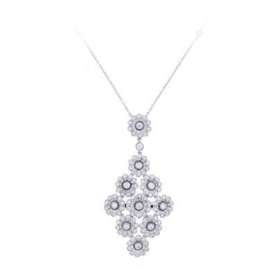 Tiffany Co Tiffany Co Diamond Platinum Flower Necklace