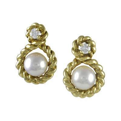 Tiffany Co Tiffany Co Diamond and Pearl Earrings