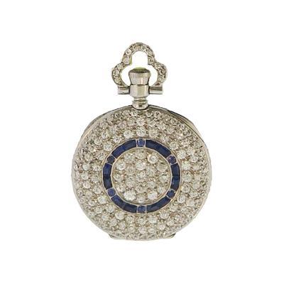 Tiffany Co Tiffany Co Diamond and Sapphire Watch Pendant