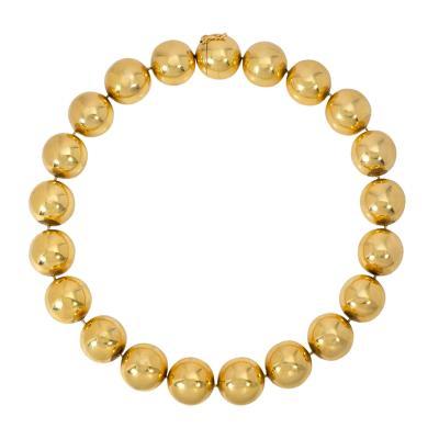 Tiffany Co Tiffany Co Estate Oversized Gold Bead Necklace