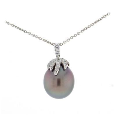 Tiffany Co Tiffany Co Fireworks Tahitian Pearl Diamond Necklace