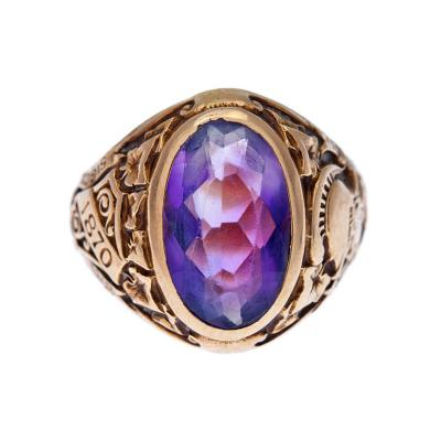 Tiffany Co Tiffany Co Hunter College Class Ring with Amethyst 1932