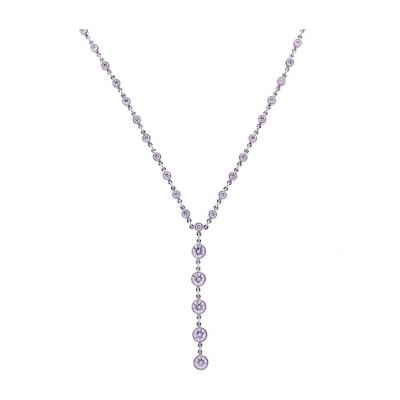Tiffany Co Tiffany Co Jazz T Drop Diamond Platinum Necklace