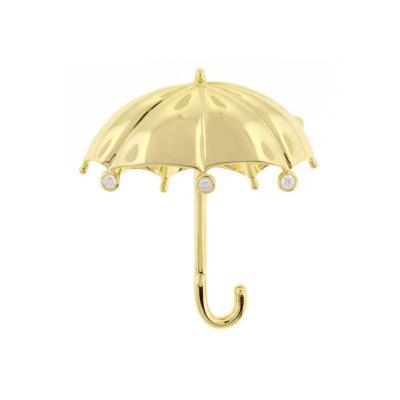Tiffany Co Tiffany Co Large Diamond Gold Umbrella Brooch