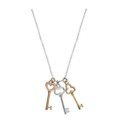 Tiffany Co Tiffany Co Mini Keys Necklace in Sterling Silver 18KT Gold