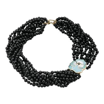 Tiffany Co Tiffany Co Multi Stand Onyx Beaded Necklace