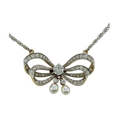 Tiffany Co Tiffany Co Natural Pearl and Diamond Pendant