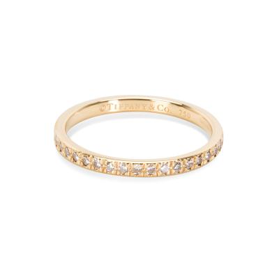 Tiffany Co Tiffany Co Novo Diamond Wedding Band in 18K Yellow Gold 0 36 CTW