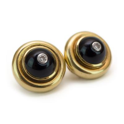 Tiffany Co Tiffany Co Onyx and Diamond Earrings