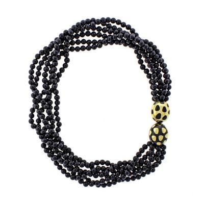 Tiffany Co Tiffany Co Positive Negative Multi Strand Jade Necklace