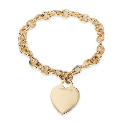 Tiffany Co Tiffany Co Return to Tiffany Medium Heart Tag Bracelet in 18KT Yellow Gold
