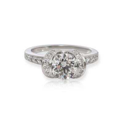 Tiffany Co Tiffany Co Ribbon Diamond Engagement Ring in Platinum H VS1 1 32 CTW