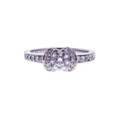 Tiffany Co Tiffany Co Round Brilliant Ribbon Ring